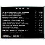 Tablica informacyjna do wpinania literek - pozioma