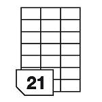 Samoprzylepne etykiety papierowe do wszystkich rodzajów drukarek - 21 etykiet na arkuszu