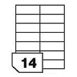 Samoprzylepne etykiety papierowe do wszystkich rodzajów drukarek - 14 etykiet na arkuszu