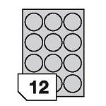 Samoprzylepne etykiety papierowe do wszystkich rodzajów drukarek - 12 etykiet na arkuszu