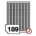 Samoprzylepne etykiety papierowe, zaokrąglone rogi do wszystkich rodzajów drukarek - 189 etykiet na arkuszu