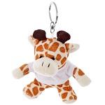 Brelok pluszak żyrafa z koszulką do nadruku