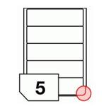 Samoprzylepne etykiety papierowe, zaokrąglone rogi do drukarek laserowych i kopiarek - 5 etykiet na arkuszu