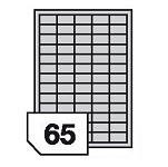 Samoprzylepne etykiety foliowe poliestrowe do drukarek laserowych i kopiarek - 65 etykiet na arkuszu