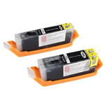 Set of 2 edible cartridges for Canon CLI 571 / PGI-5700 (2 x Black)