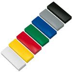 Prostokątne magnesy biurowe - kolorowe