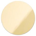 Złoty, błyszczący krążek metalowy do sublimacji - 50 sztuk