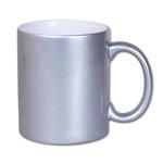 Perłowy metaliczny kubek do sublimacji - srebrny