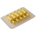 Magnesy neodymowe pinezki - żółte