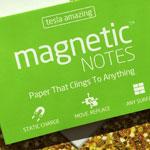Elektrostatyczne suchościeralne karteczki na notatki - zielone