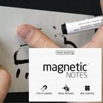 Elektrostatyczne suchościeralne karteczki na notatki - białe