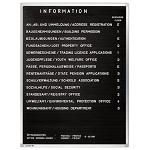 Tablica z literkami do wpinania informacyjna