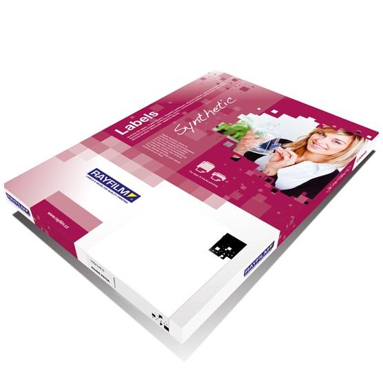 Samoprzylepna, biała folia polipropylenowa do drukarek atramentowych - 50 arkuszy A4