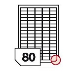 Samoprzylepne etykiety papierowe fotograficzne, zaokrąglone rogi do drukarek atramentowych - 80 etykiet na arkuszu