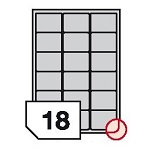 Samoprzylepne etykiety papierowe fotograficzne, zaokrąglone rogi do drukarek atramentowych - 18 etykiet na arkuszu