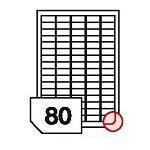 Samoprzylepne etykiety papierowe, zaokrąglone rogi do drukarek laserowych i kopiarek - 80 etykiet na arkuszu