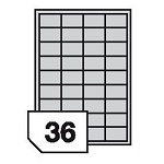 Samoprzylepne etykiety papierowe do drukarek laserowych i kopiarek - 36 etykiet na arkuszu