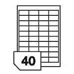 Samoprzylepne etykiety papierowe, kolorowe do wszystkich rodzajów drukarek - 40 etykiet na arkuszu