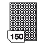 Samoprzylepne etykiety papierowe, kolorowe do wszystkich rodzajów drukarek - 150 etykiet na arkuszu