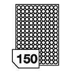 Samoprzylepne etykiety papierowe, wielokrotnego odklejania do wszystkich rodzajów drukarek - 150 etykiet na arkuszu