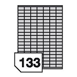 Samoprzylepne etykiety foliowe poliestrowe do drukarek atramentowych- 133 etykiety na arkuszu