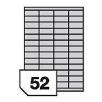 Samoprzylepne etykiety foliowe poliestrowe, prześwitujące do drukarek laserowych i kopiarek - 52 etykiety na arkuszu