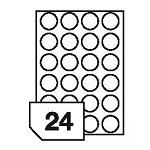 Samoprzylepne etykiety foliowe poliestrowe metalizowane do drukarek laserowych i kopiarek - 24 etykiety na arkuszu