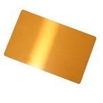 Złote wizytówki aluminiowe do sublimacji - 10 sztuk