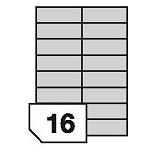 Samoprzylepne etykiety foliowe poliestrowe do drukarek laserowych i kopiarek - 16 etykiet na arkuszu