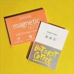 Elektrostatyczne suchościeralne karteczki na notatki - przezroczyste