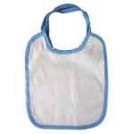 Śliniak dziecięcy do sublimacji z niebieską obwódką - 5 sztuk