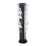 Obrotowy stojak na ulotki z 21 kieszeniami (format A4)