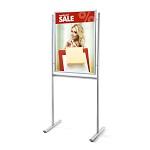 Jednostronny stojak informacyjny na plakaty i broszury (format 70 x 100 cm)