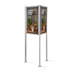 Trójstronny zewnętrzny stojak informacyjny na plakaty (format 70 x 100 cm)