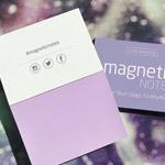 Elektrostatyczne suchościeralne karteczki na notatki - fioletowe pastelowe