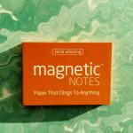Elektrostatyczne suchościeralne karteczki na notatki - pomarańczowe