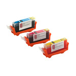 Set of edible cartridges Canon CLI 521 CMY
