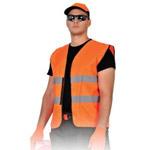 Pomarańczowa kamizelka odblaskowa do nadruku