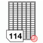 Samoprzylepne etykiety papierowe, zaokrąglone rogi do wszystkich rodzajów drukarek - 114 etykiet na arkuszu