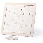 Puzzle drewniane do termotransferu 9 elementów