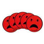 Magnesy okrągłe - buźka smutna