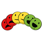 Magnesy okrągłe - buźki: neutralna, usmiechnięta, smutna