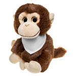 Pluszowa małpa z białą chustą do sublimacji