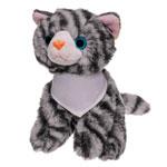 Pluszowy kot z białą chustą do sublimacji
