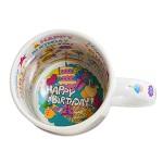Kubek do sublimacji z nadrukiem wewnątrz - Happy Birthday