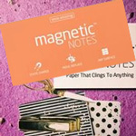 Elektrostatyczne suchościeralne karteczki na notatki - pomarańczowe pastelowe