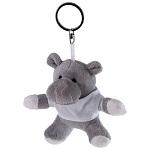 Brelok pluszak hipopotam z koszulką do nadruku