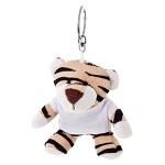 Brelok pluszak tygrys z koszulką do nadruku