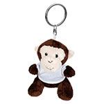 Brelok pluszak małpka z koszulką do nadruku