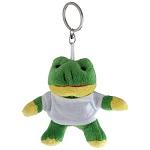 Brelok pluszak żaba z koszulką do nadruku